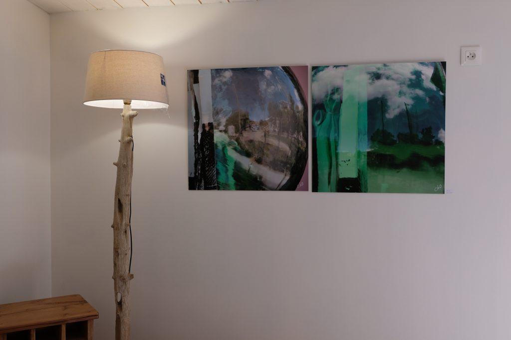 Collage et reflets
